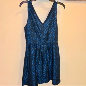 C. Luce Navy fit and flare dress